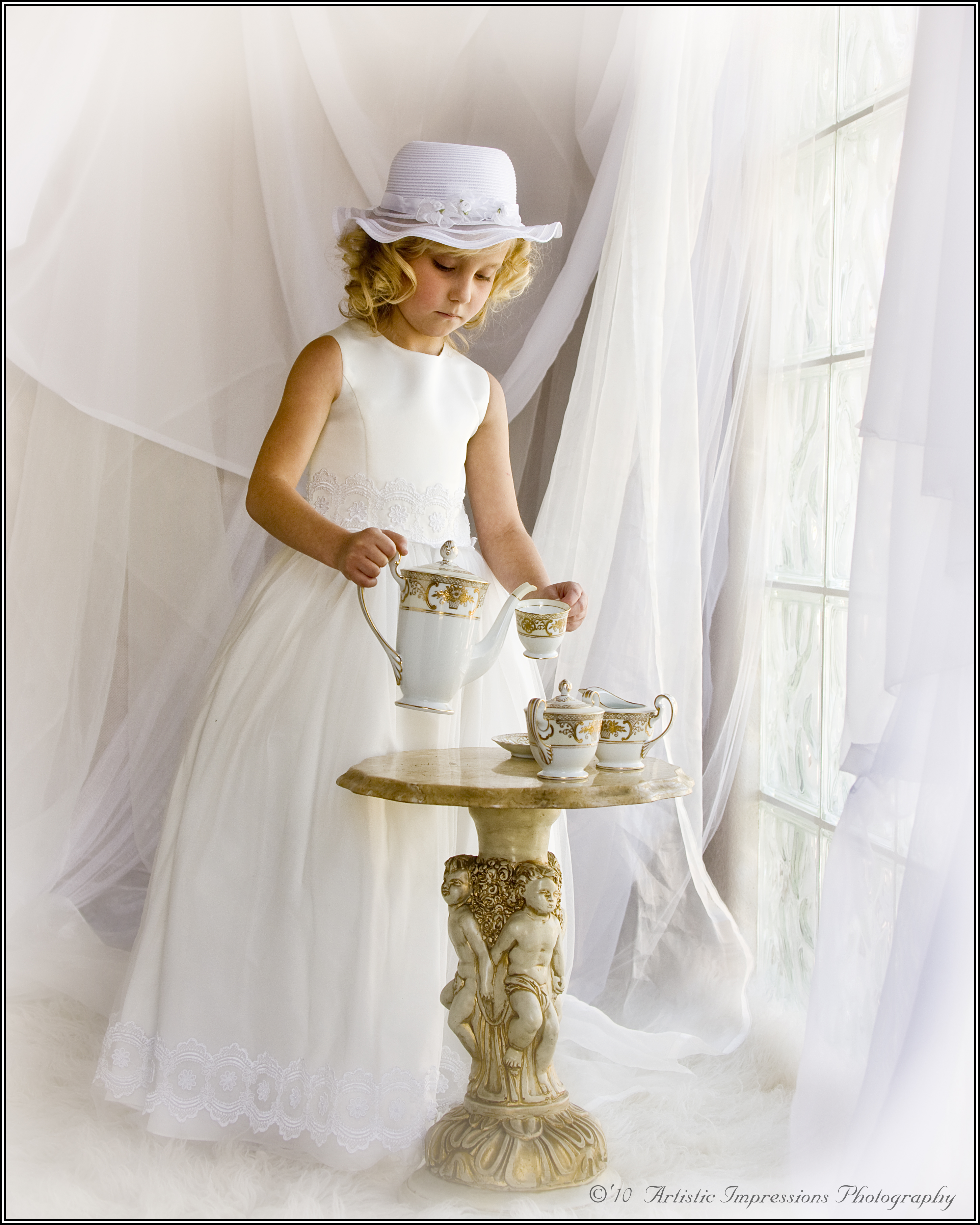 Young Girl Picture Perfect Tea Party