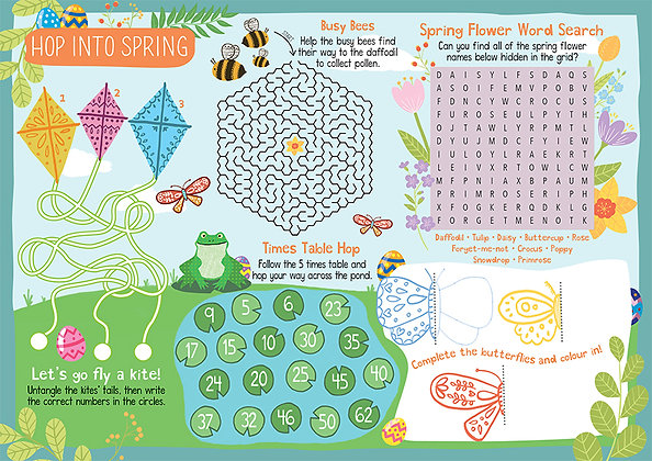 Hop into Spring & Easter 1,000 Activity Sheets