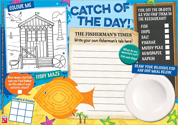 Catch of the Day Activity Sheet