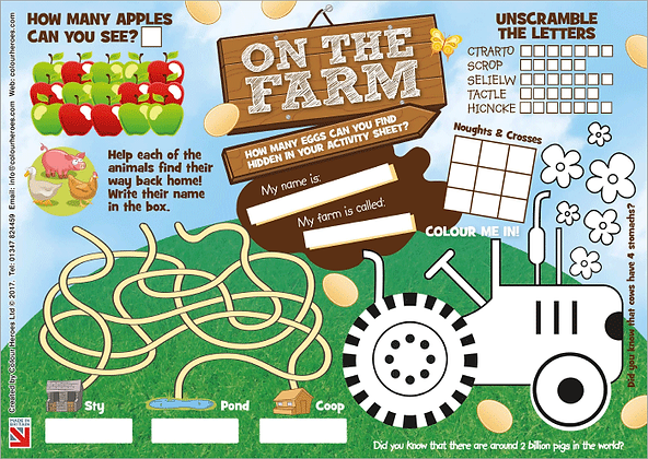 On the Farm 1,000 Activity Sheets