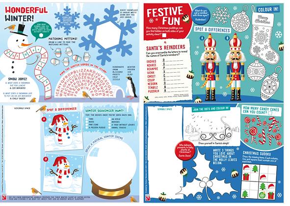 1,000 Mixed Christmas Activity Sheets
