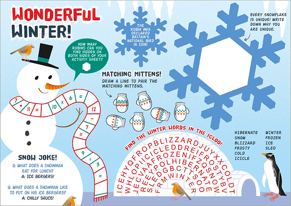 Wonderful Winter Activity Sheet
