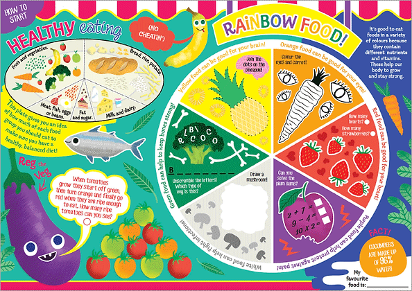 Rainbow Food Healthy Eating Activity Sheet