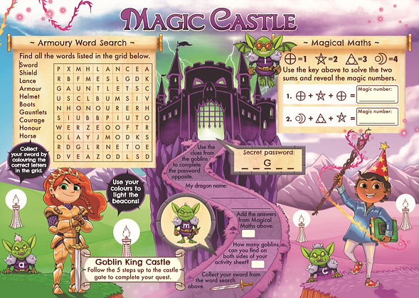 Magic Castle 1,000 Activity Sheets