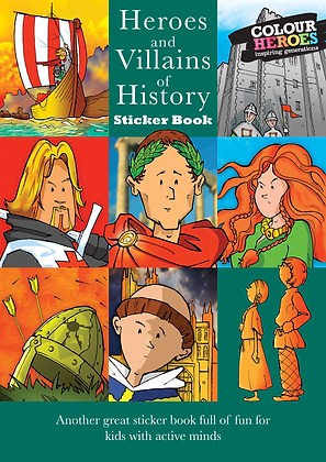 Heroes & Villains of History Sticker Book Green