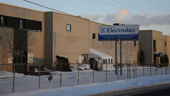 Fermeture de l'usine Electrolux