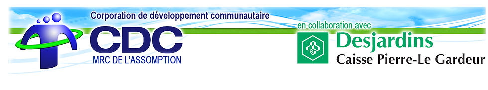 Logo CDC et Desjardins Caisse Pierre-Le Gardeur