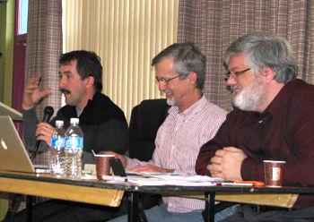 Panel d'échange sur la concertation locale - Paul Sarrazin, Jean Panet-Raymond et Sylvain St-Onges