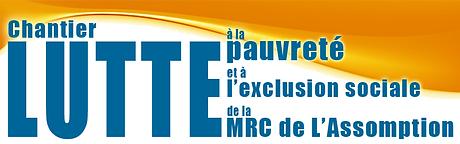 Logo Chantier Lutte à la pauvreté et à l'exclusion sociale de la MRC de L'Assomption