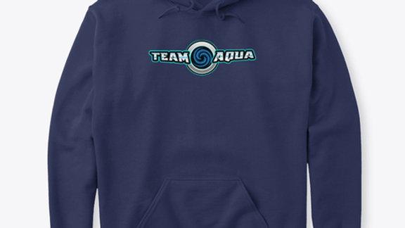 Team Aqua Text Hoodie