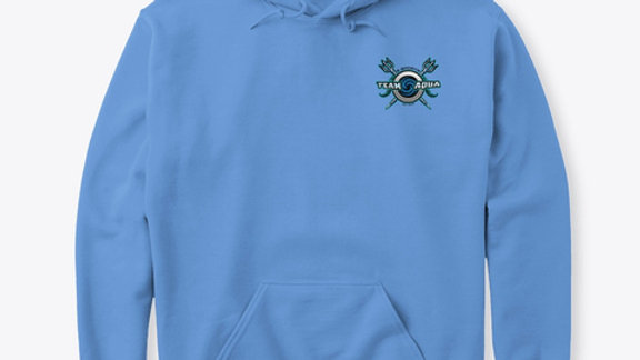 Team Aqua Crest Hoodie
