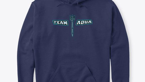 Team Aqua Text Hoodie v2