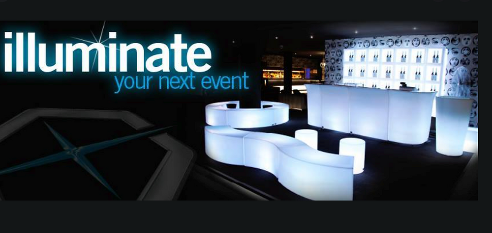 Hire Light Up LED Furniture in London From On Tour Events