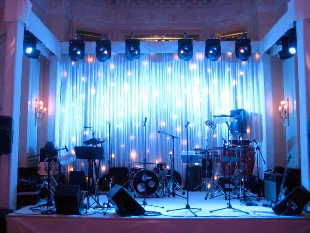 Stage & lighting package for an event in Heathrow
