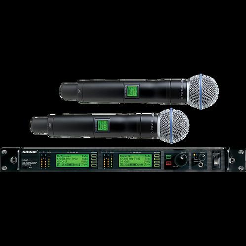 Shure UR4D Wireless Microphone Hire London