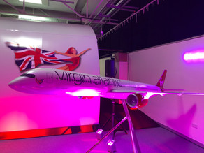 On Tour Events Supplies Audio Visual & Stage Production For Virgin Atlantic Christmas Party.