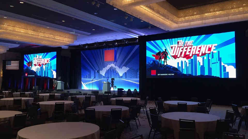 Conference projector screen equipment