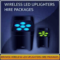 Wireless LED Uplighter Hire Page