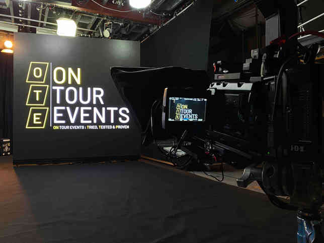 LED screen for live streaming event.j