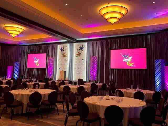 AV screens for an event in London for London event