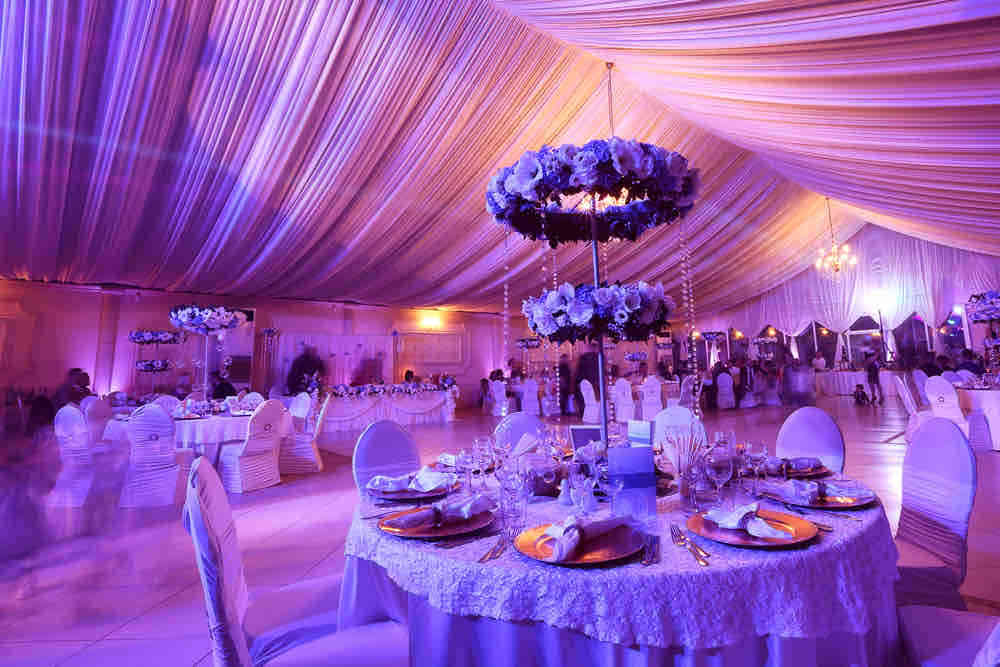 Lighting for a wedding in Heathrow