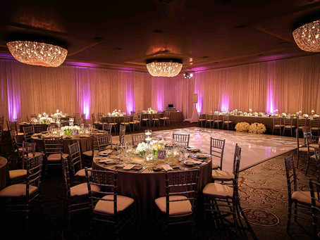 Make Your Venue Look Magical with Wireless LED Wedding Venue Uplighters from On Tour Events
