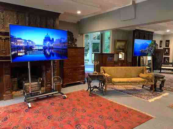 Two large TV's in London