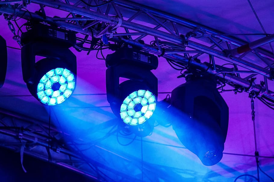stage lighting supplied by On Tour Events for a London based running festival