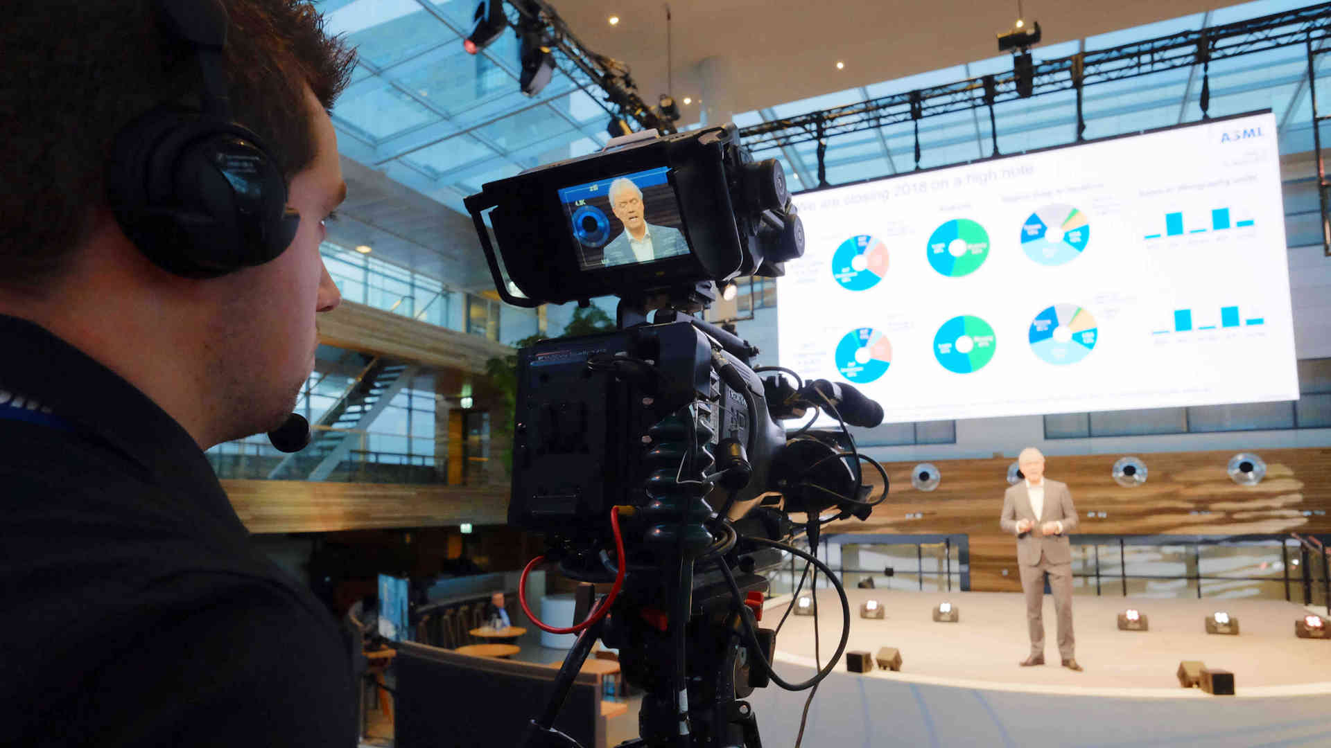 Live camera & LED screen for live streaming event in London