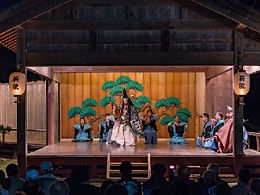 Noh stage, a Japanese traditional performing art