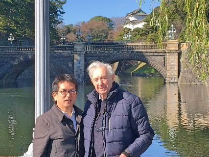 picture at the Imperial Palace with my guest