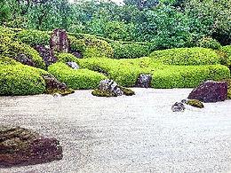 Zen style garden in Kamakura