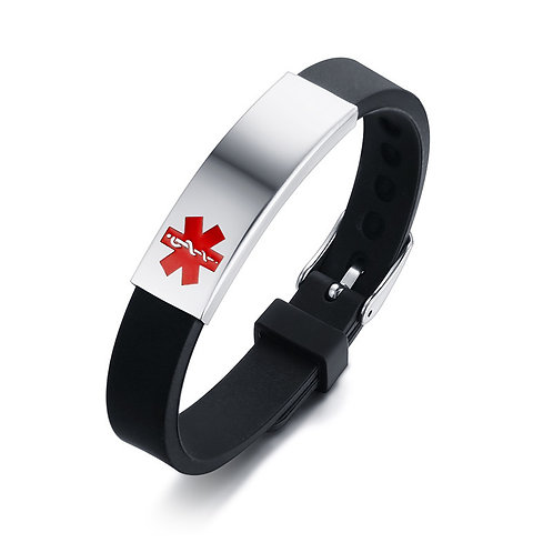 DIABETES, EPILEPSY,  ALLERGY,   ALLERGY,  WARFARIN ID BRACELET