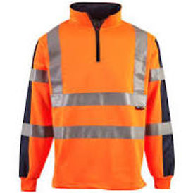 Hi Vis 2 Tone Orange Rugby Shirt