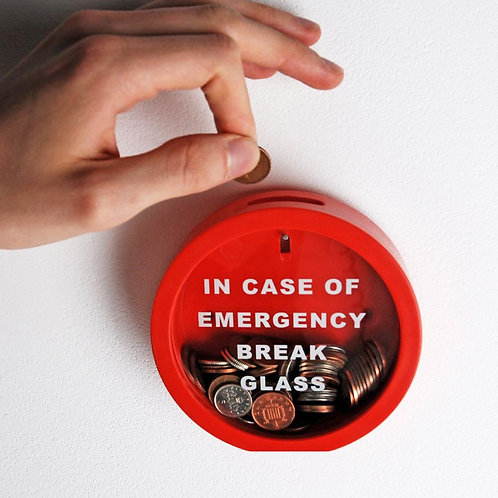 Emergency Break Glass Money Box