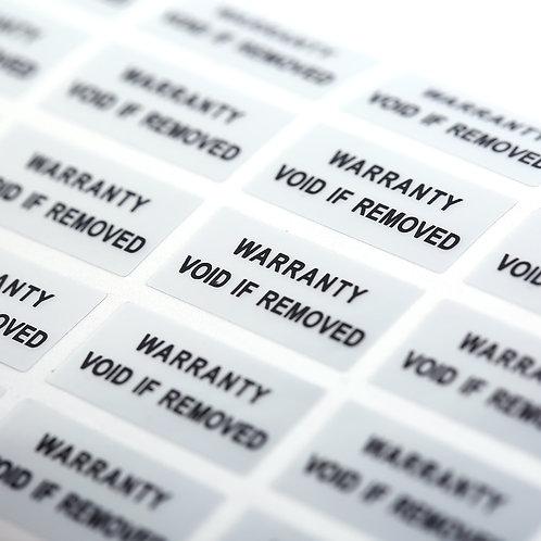 300 Printed Security Seals Tamper Evident Warranty