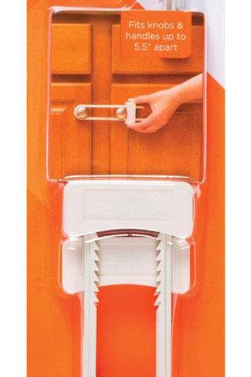 Safety 1st  White  Plastic  Cabinet Slide Locks  2 pk