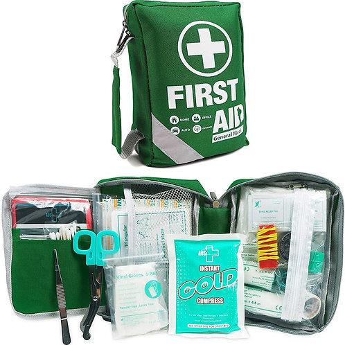 Compact First Aid Bag (175 Piece) - Reflective Bag Design
