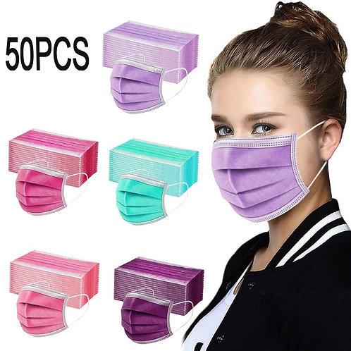 3-Layer Anti-Dust Disposable Mascarillas 10 - 50 Pcs