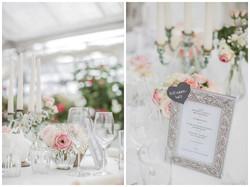 Schlichte Tischdeko mit Blumen