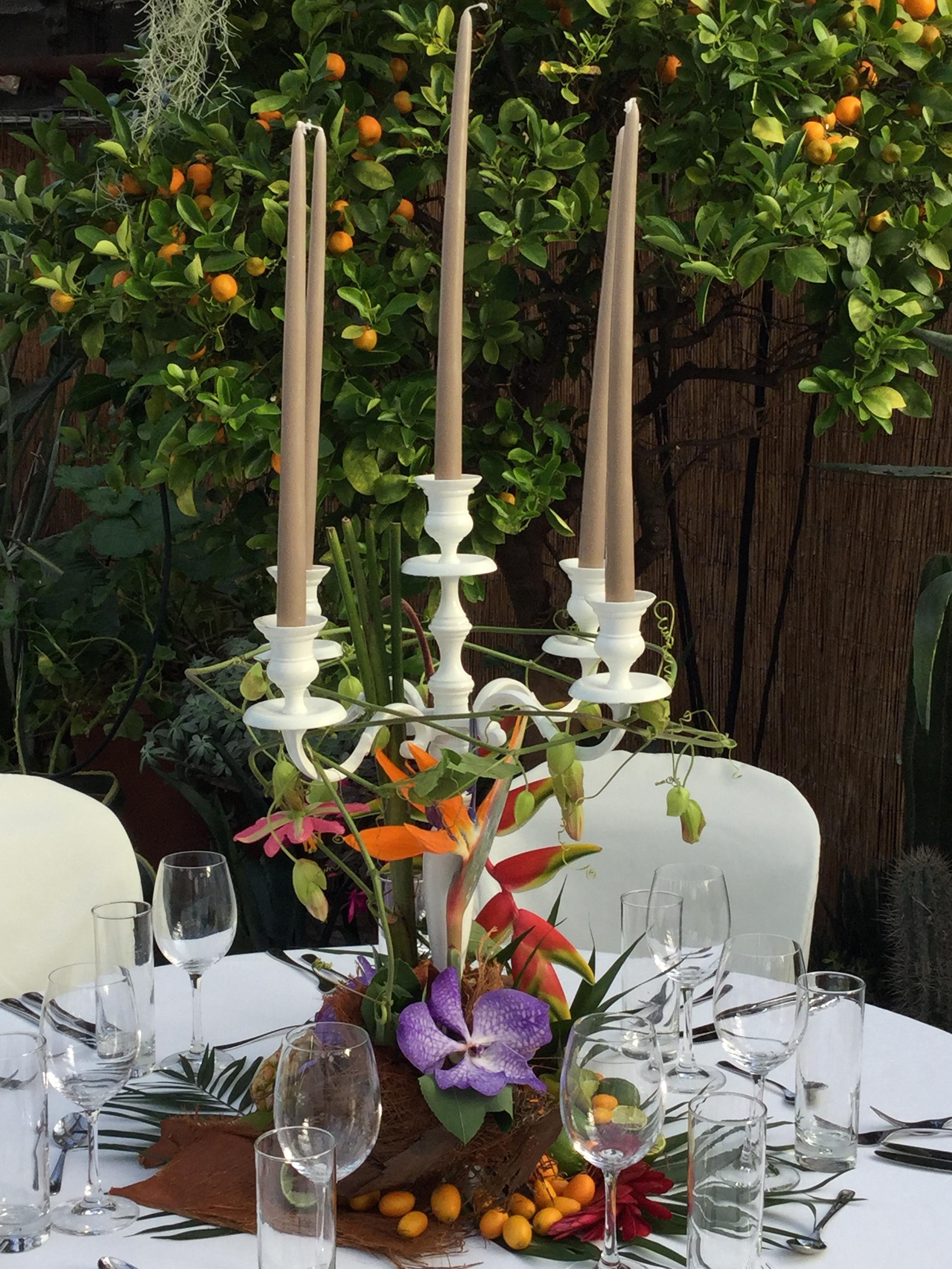 Tischdekoration Kerzenständer