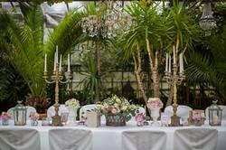 Übersicht Hochzeitstisch Dekoration