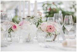 Blumen Tisch Dekoration Hochzeit