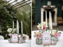 Collage Hochzeitstisch Beschriftung
