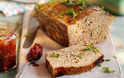 Tomato jam and meatloaf