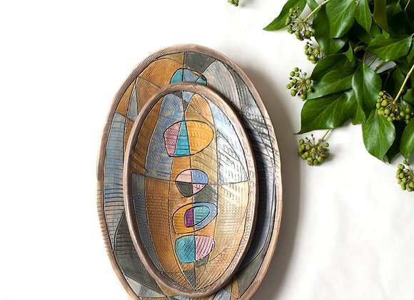 Time and Space | Oval Platter