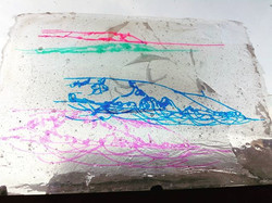 Another PVA layered ink drawings piece f