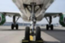 airplane wheel and brake