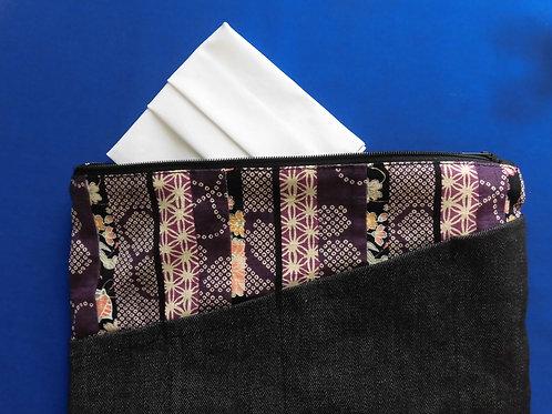 Pochette kimono motif