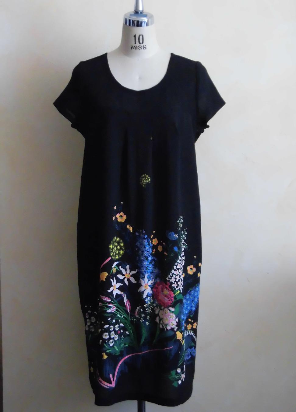 Robe imprimé à fleurs en soie